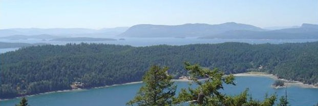 View from Mount Norman, North Pender Island
